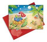 Embellished Christmas Cards - Sea Turtle Christmas