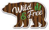 Sticker - Wild & Free Bear
