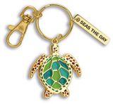 Enamel Keychain - Turtle