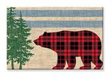 Souvenir Magnet - Rustic Chic Bear