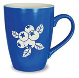 Etched Mug - Blueberry - matte finish