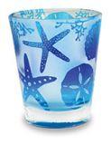 Frosted Shot Glass - Beach Batik Shells