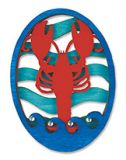 Laser Cut Wood Magnet - Lobster