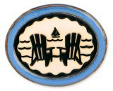Pottery Disk Magnet - Adirondack Chairs