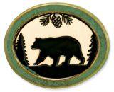 Pottery Disk Magnet - Bear