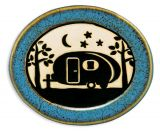 Pottery Disk Magnet - Camper