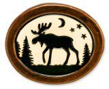 Pottery Disk Magnet - Moose