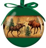 Ball Ornament - Moose Collage