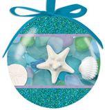 Ball Ornament - Photographic Sea Glass and Shells