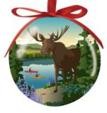 Ball Ornament - Moose Reflection