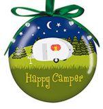 Light Up Ball Ornament - Happy Camper