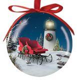 Ball Ornament - Lighthouse Sleigh