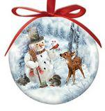 Ball Ornament - Snowman and Friends