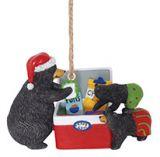 Resin Ornament - Cooler Raiding Black Bears