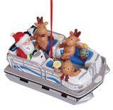 Resin Ornament - Pontoon Boat