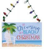 Sign Ornament - Adirondack Chair - Dreaming of a Beach Christmas