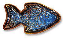 Mini Potter's Dish - Beach Batik Fish