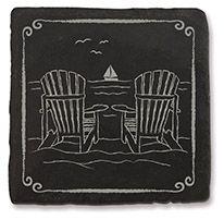 Slate Coaster - Adirondack Chairs