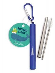 Collapsible Straw with Case - Lighthouse