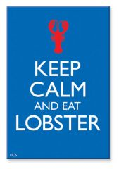 Souvenir Magnet - Keep Calm & Eat Lobster