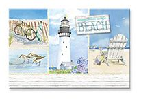 Souvenir Magnet - Coastal Collage