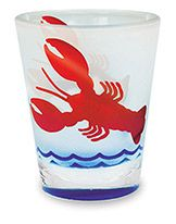 Frosted Shot Glass - Lobster