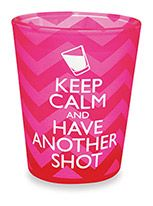 Velvet Shot Glass - Keep Calm & Have Another Shot