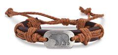 Leather Bracelet - Bear