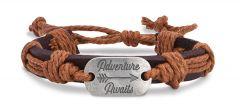 Leather Bracelet - Adventure Awaits