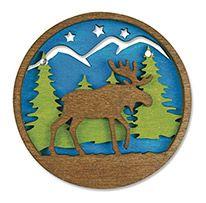 Laser Cut Wood Magnet - Moose