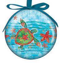 Ball Ornament - Watercolor Sea Turtle