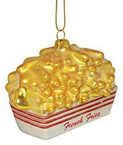 Blown Glass Ornament - French Fries