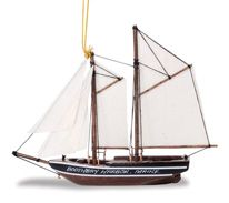 Wood Ornament - Bluenose