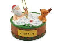 Resin Ornament - Hot Tubbing Santa