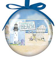Ball Ornament - Coastal Collage