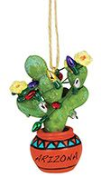 Resin Ornament - Prickly Pear ARIZONA