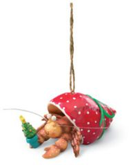 Resin Ornament - Hermit Crab Red Shell