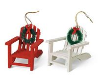 Wood Ornament - Adirondack Chair - assorted colors