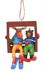 Resin Ornament - Chairlift Buddies