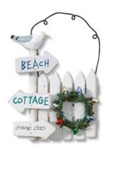 Handcrafted Ornament - Nautical Signpost
