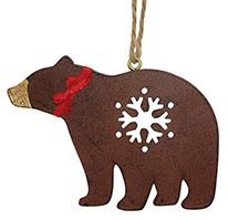 Metal Ornament - Bear