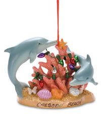 Resin Ornament - Decorating Dolphins with Lights