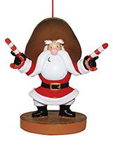 Resin Ornament - Gunslinging Santa