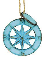Resin Ornament - Faux Metal Compass Rose