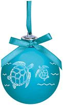 Light-up Frosted Glass Ball Ornament - Turtle