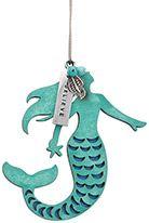 Wood Ornament with Metal Charms - Mermaid - Believe