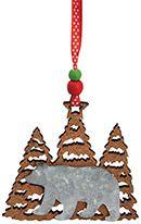 Cork & Metal Ornament - Bear