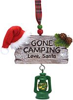 Resin Ornament - Gone Camping Love Santa