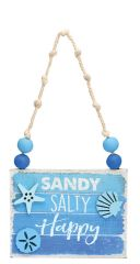 Sign Ornament - Sandy Salty Happy