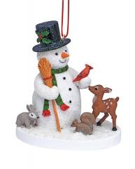 Resin Ornament - Snowman and Friends